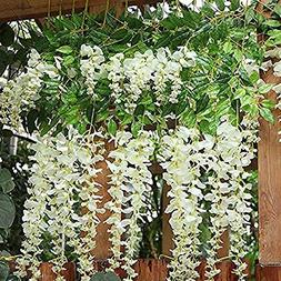 BJH 12 Pack 3.6 Feet/Piece Artificial Fake Wisteria Vine Rat