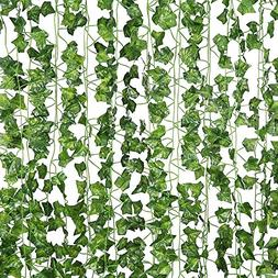 12 Pcs of 82 inch Artificial Plant Fake Hanging Vine Ivy Lea