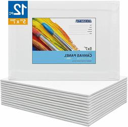 Artist Painting Canvas Panels,Canvas Boards,12 Pack,100% Cot