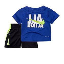 NIKE Baby Boy All Action Swoosh Graphic Tee & Shorts Set