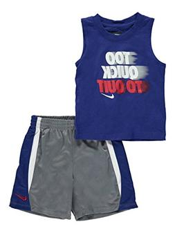 Nike Baby Boys 2-Piece Outfit - cool gray, 12 months