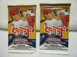 Baseball Cards 2018 TOPPS UPDATE SERIES PACK x2 Lot of 2 Sea