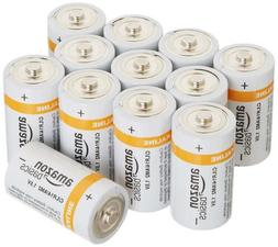 AmazonBasics C Cell Everyday Alkaline Batteries ,New