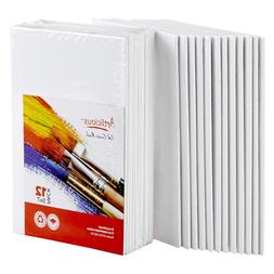 Artlicious Canvas Panels 12 Pack - 5 inch x 7 Super Value Pa