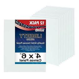 "12 Pack of U.S. Art Supply 4"" x 6"" Professional Quality Canv"