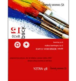 """Artsy - CANVAS PANELS BOARD 12 PACK - 8""""X10"""" SUPER VALUE PAC"""