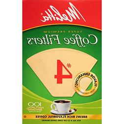 Melitta Coffee Filters, Natural Brown, #4, 100 filters