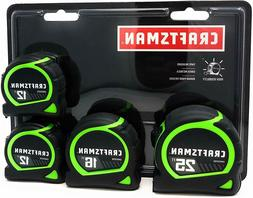 Craftsman Stanley 4 pack tape measures 12ft,16',25'
