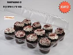 Cupcake Boxes, Cupcake Containers, 12 Pack Cupcake Container