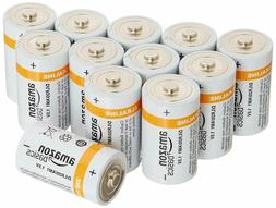 AmazonBasics D Cell Everyday Alkaline Batteries  OPEN BOX NE