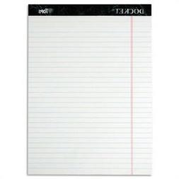 Docket Ruled Perforated Pads, 8 1/2 x 11 3/4, White, 50 Shee