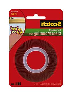 """Scotch Double-Sided Mounting Tape, Industrial Strength, 1"""" X"""