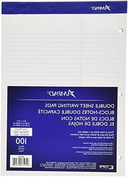 Double Sheet Pad  Law Rule  8-1/2 x 11-3/4  White  Micro Per