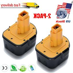 2 Pack 12V 12 Volt Drill Battery For DEWALT DC9071 DW9071 DW