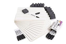 Charles Leonard Dry Erase Board Class Pack, Includes 12 Plai