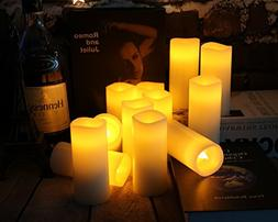 "Antizer Flameless Candles Battery LED Operated Candles 5"" Pa"