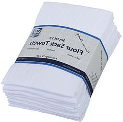 Flour Sack Kitchen Towels  , 100% Cotton 28 x 28 Inches Clot