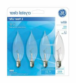 Ge Decorative Bulb 60 W Clear Pack / 4