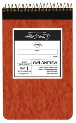 Ampad Gold Fibre Retro Writing Pad, Red Cover, Ivory Paper,