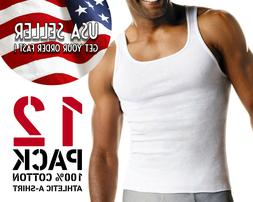 GREAT DEAL! Men's Undershirt Tank Top PACK OF 12: Athletic A