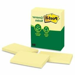 Post-it Greener Notes, 3 x 5-Inches, Canary Yellow, 12-Pads/