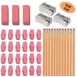 #2 HB Pencils, Wood-cased Pencils With Eraser Tops, 12 Pack