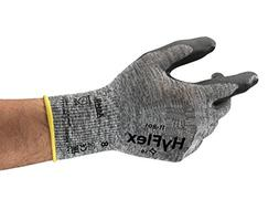 Ansell HyFlex 11-801 Nylon Glove, Black Foam Nitrile Coating