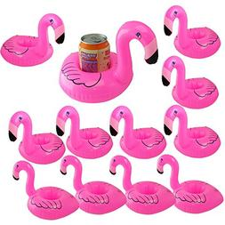 Inflatable Drink Holder Float Coaster,Flamingo 12 Pack
