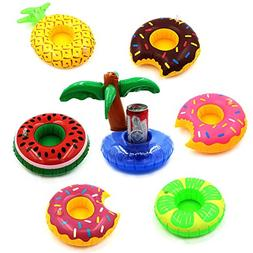 7 PCS Inflatable Pool Party Drink Floats Swimming Drink Hold