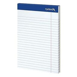 Ampad Jr. Notepad, College/Medium Ruled, 50 Sheets, White, 5