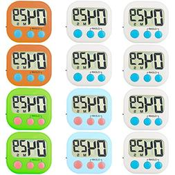 Kitchen Timer 12 Pack Small Digital Electronic Loud Alarm, M