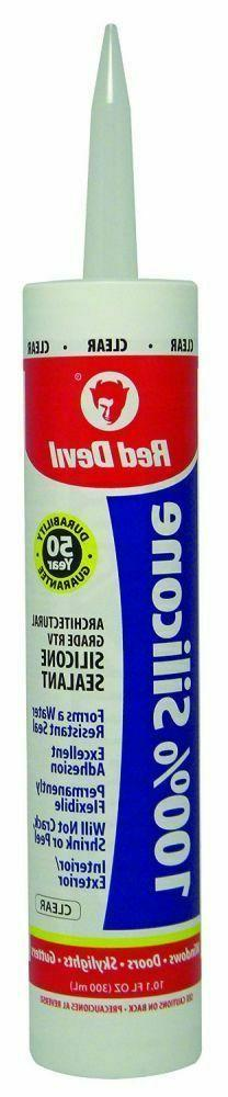 Red Devil 0816 12 Pack 10.1 oz. 100% Silicone Caulking Clear
