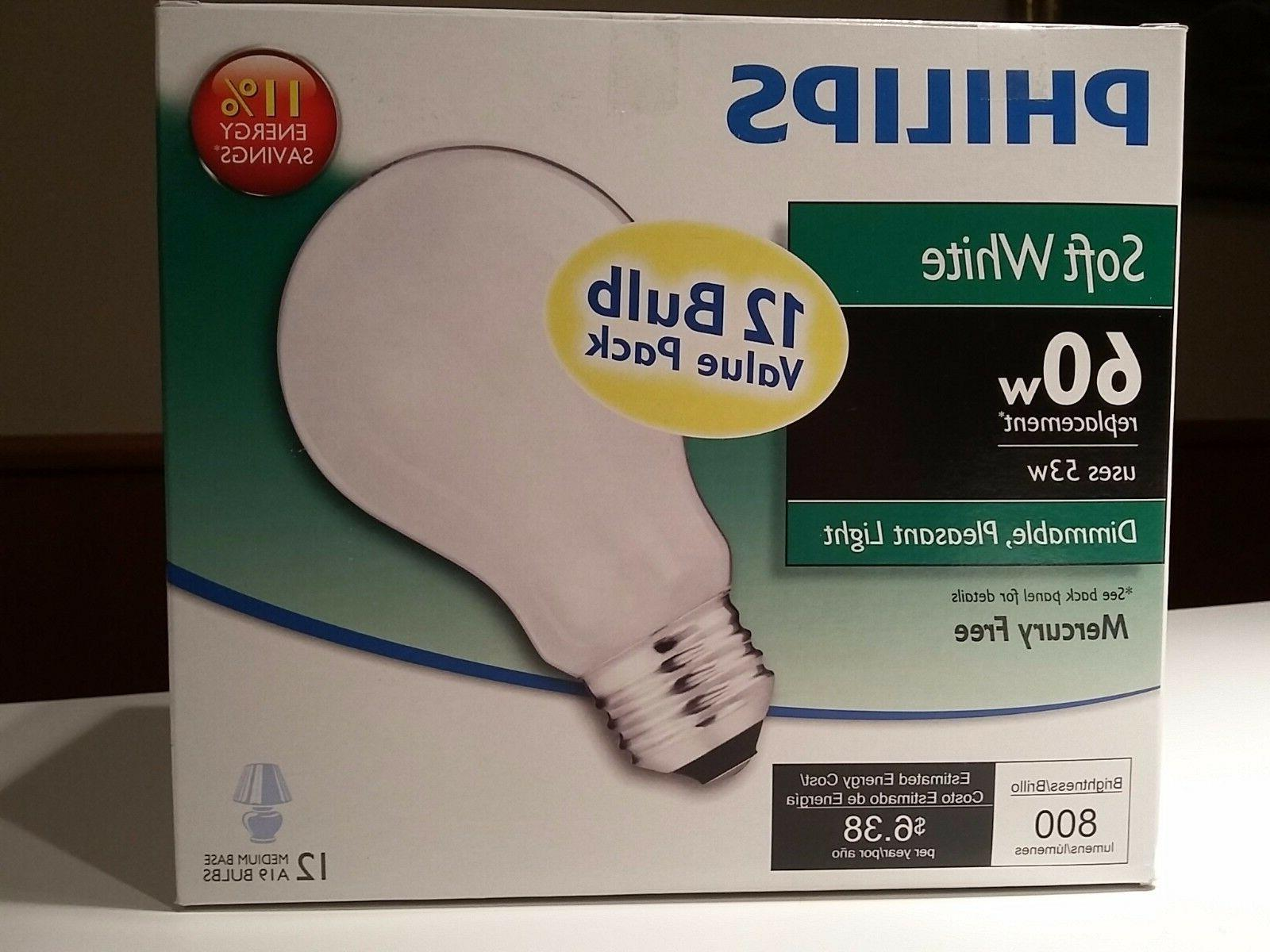 12 60w dimmable replacement light bulbs 12