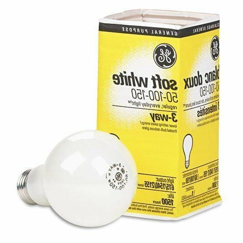 12 Bulbs GE : Three-way soft white incandescent bulb