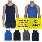 12 PACK AAA 1307 ALSTYLE MENS TANK TOP PLAIN SLEEVELESS T SH