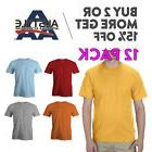 12 PACK AAA ALSTYLE 1301 MENS CASUAL T SHIRT PLAIN SHORT SLE