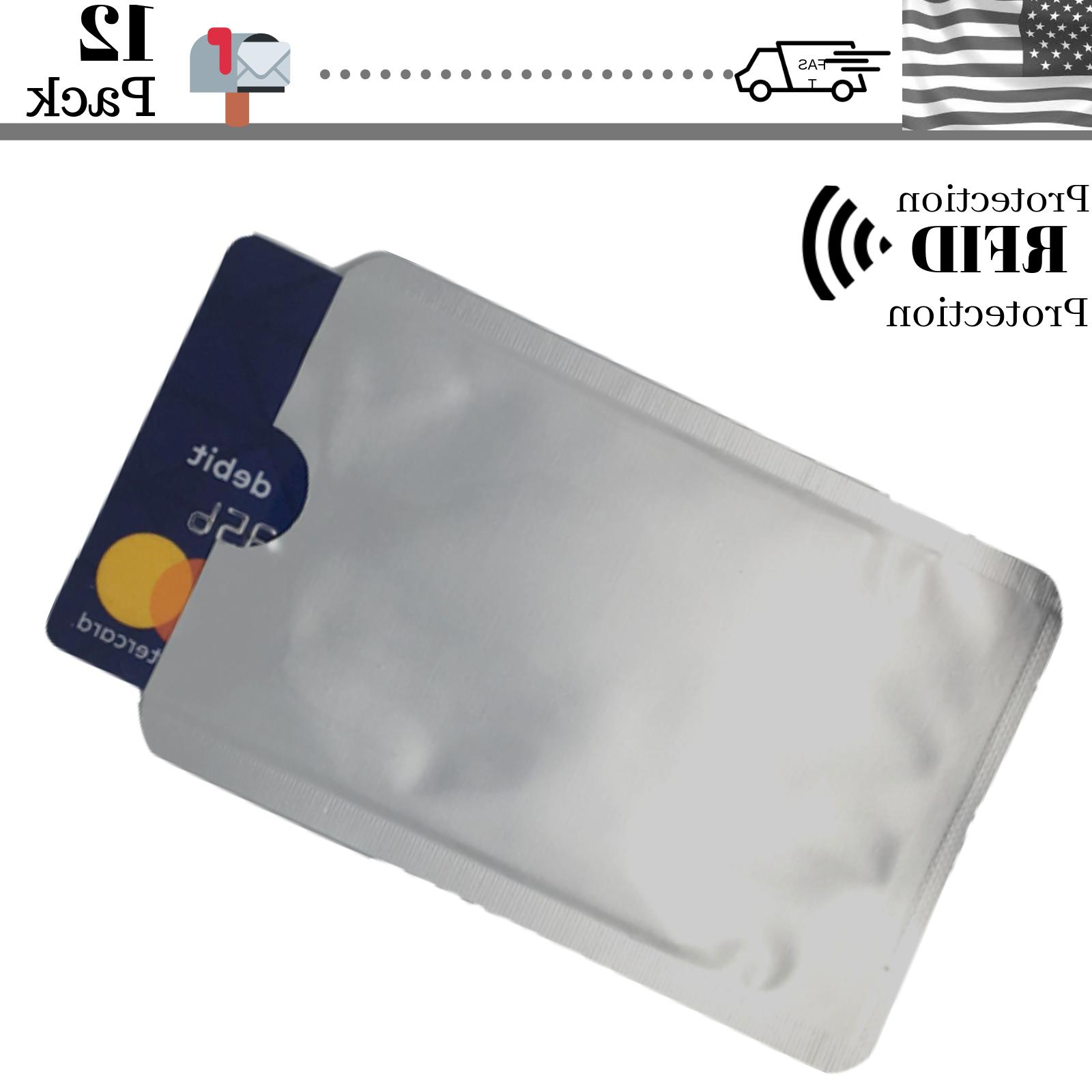 12 Credit Card Blocking Sleeve