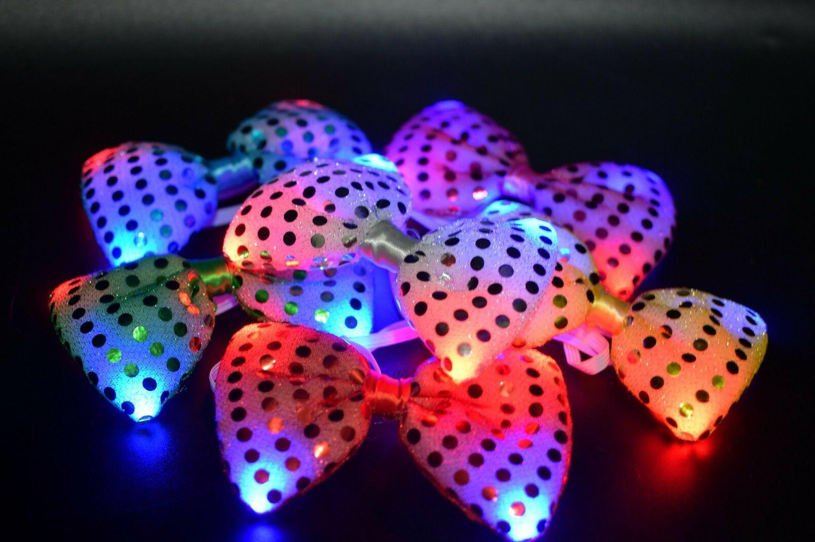 12 Bow Ties Flashing Wedding Party