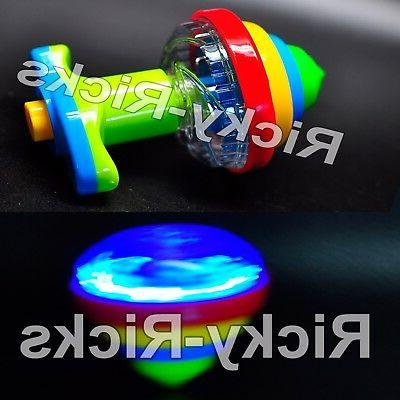 12 pack light up spinning tops flashing