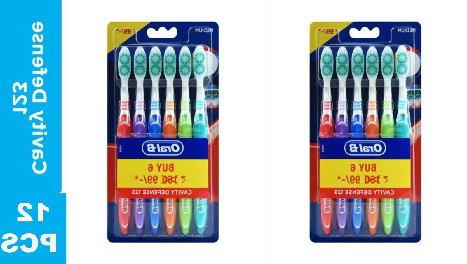 12 pack oral b all rouder medium