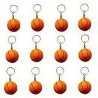 12 pack orange basketball keychains for kids