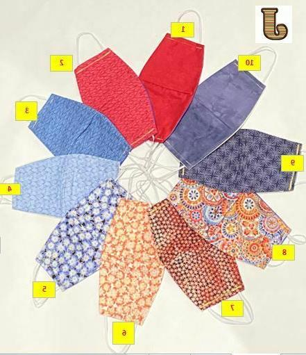 12 PACK COLOR FABRIC FACE