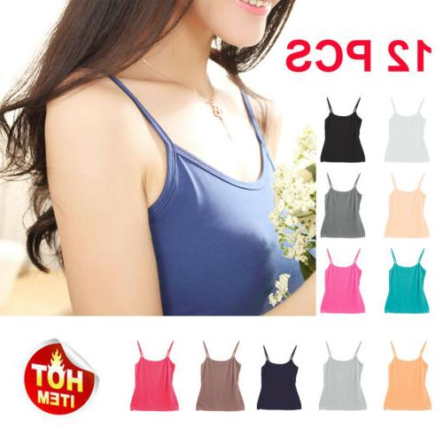 12 pack women s camis tank top