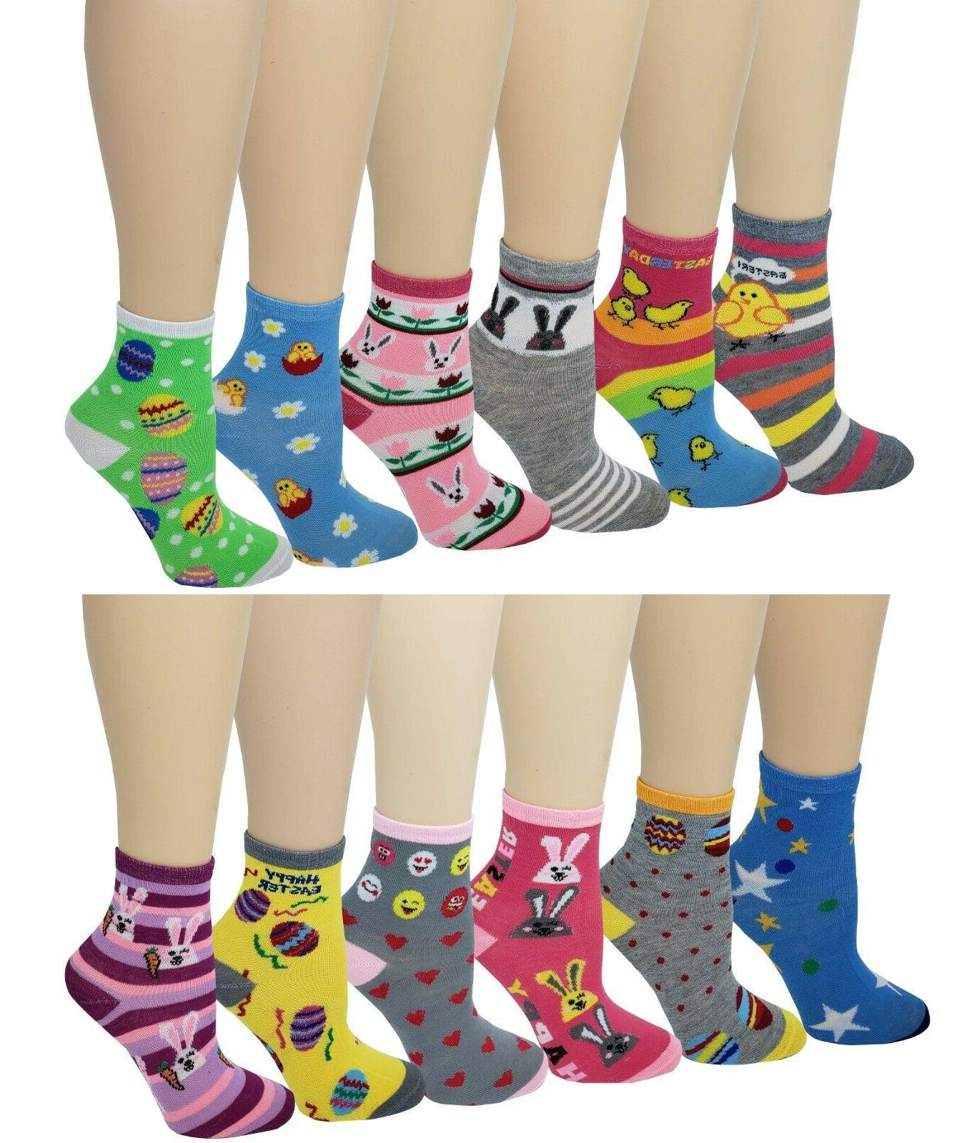 12 pairs pack kids girls colorful creative