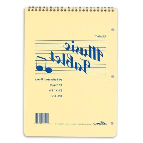 12 staves music notebook