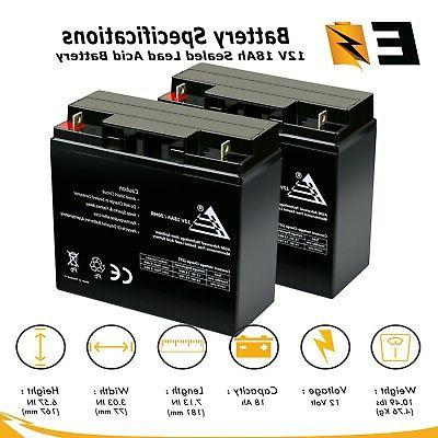 12v 18ah sla battery 2 pack