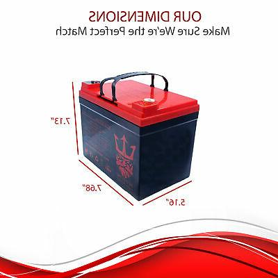 12V 35AH Battery for Scooter Pride Mobility Jazzy Select Wheelchair 2 Pack