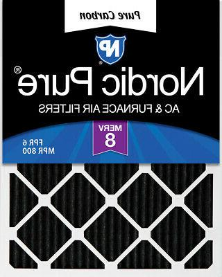 Nordic Pure 12x24x1 Pure Carbon Pleated Odor Reduction Furna