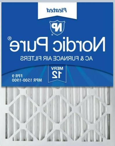Nordic Pure 16x20x2 Pleated MERV 12 Air Filters 3 Pack