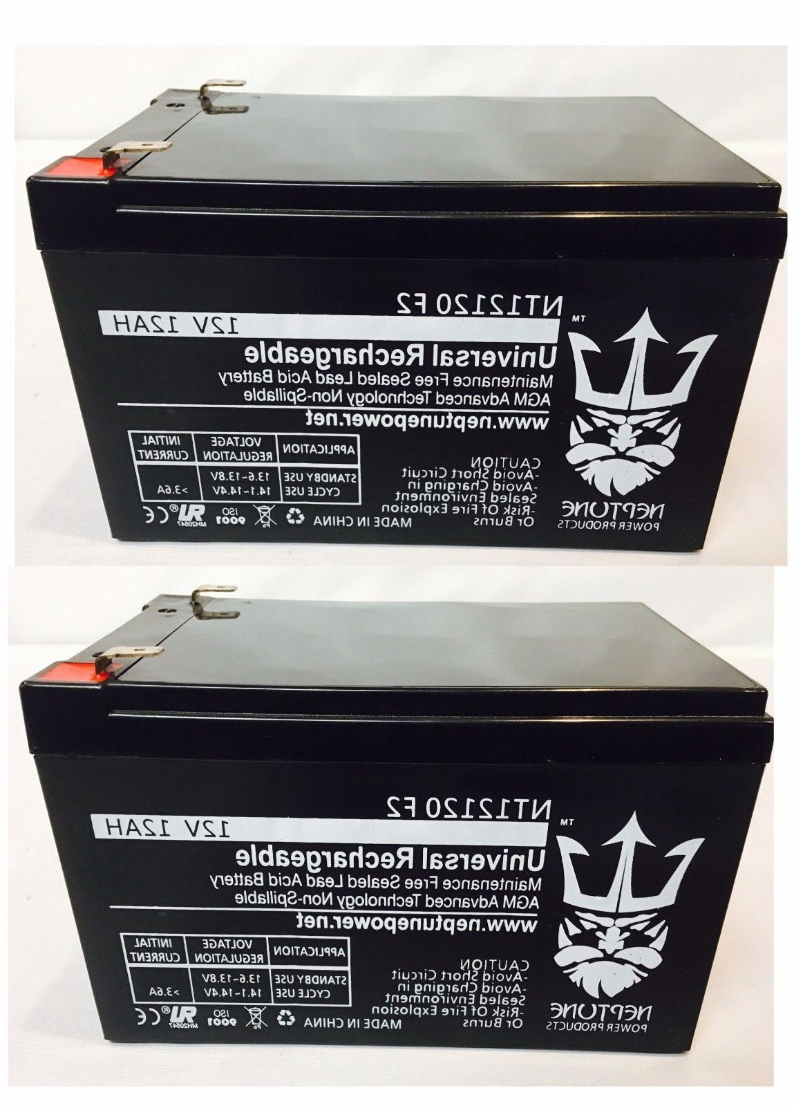2 Pack 12AH Battery Currie Ezip Scooter